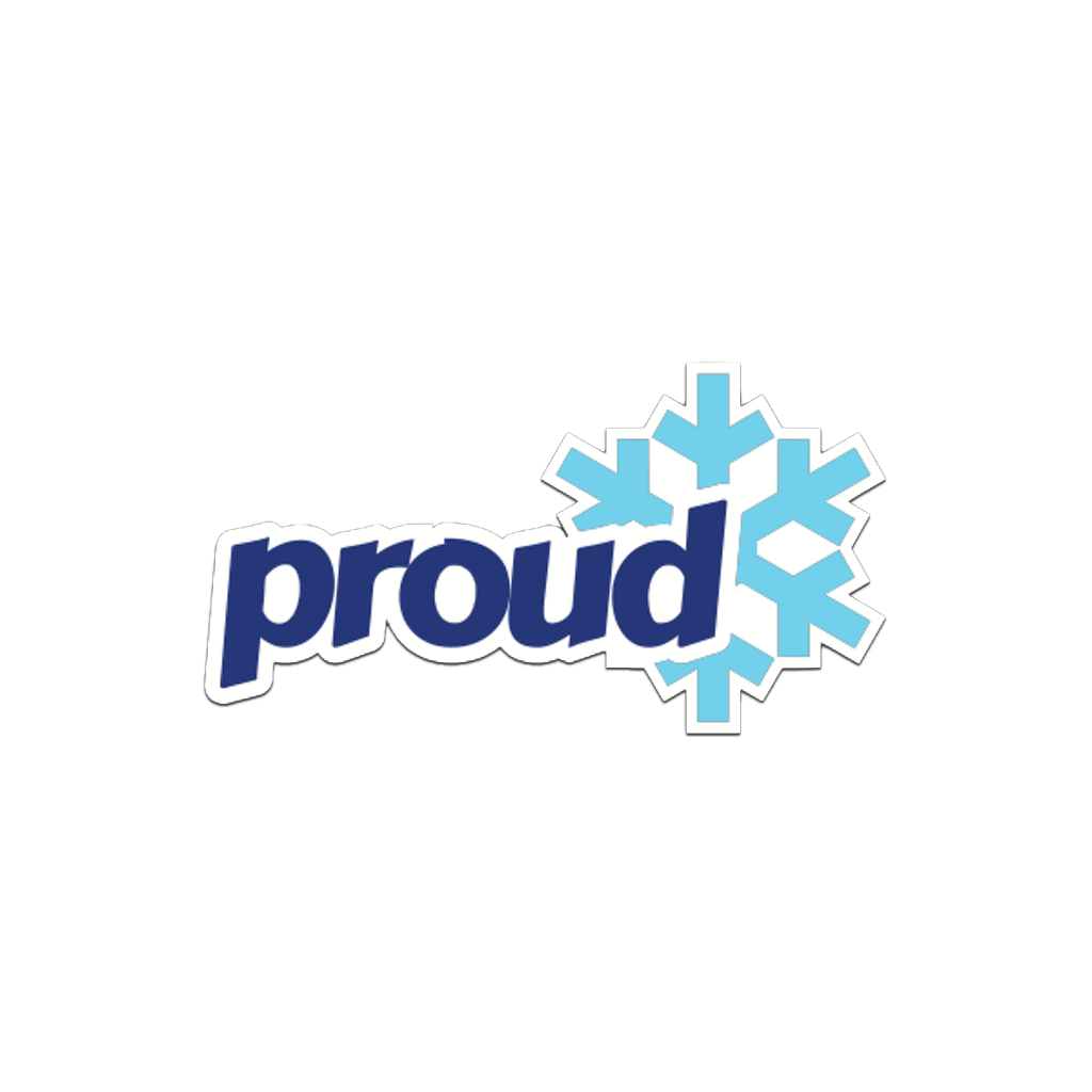 BLUE Proud Snowflake Pin Witty City Goods Buttons & Pins