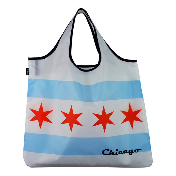 YaYBag Chicago Flag Yay Novelty Reusable Tote Bags