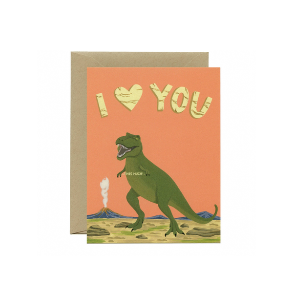 T-Rex Love Card YEPPIE PAPER Card - Love
