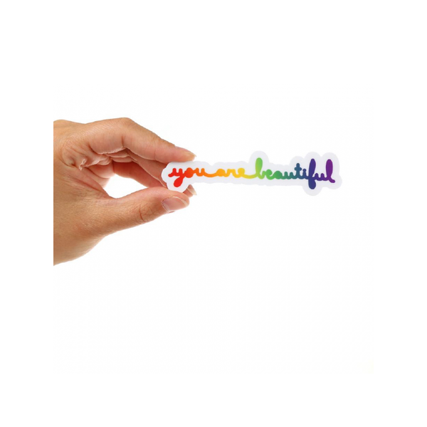 YAB STICKER CURSIVE RAINBOW You Are Beautiful Impulse - Other