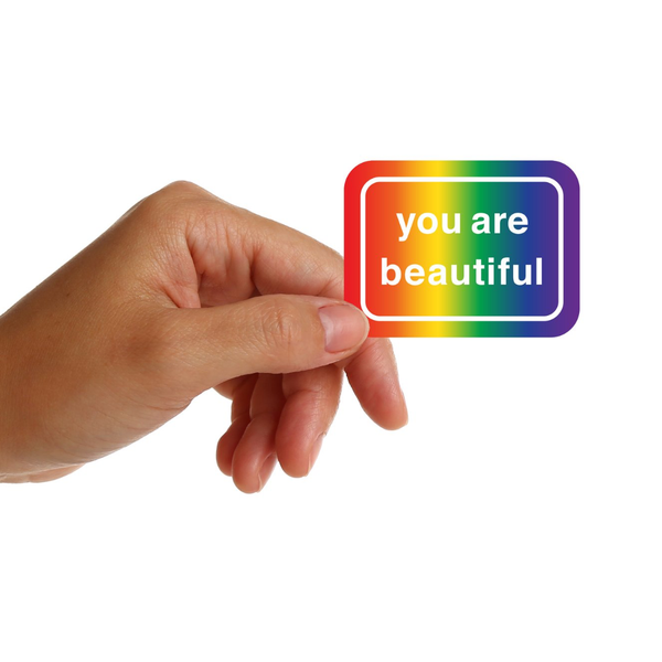 You Are Beautiful Sticker - Classic Rainbow You Are Beautiful Impulse - Stickers