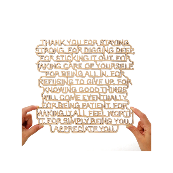 Thank You...Appreciate You Wall Art You Are Beautiful Plaques & Signs