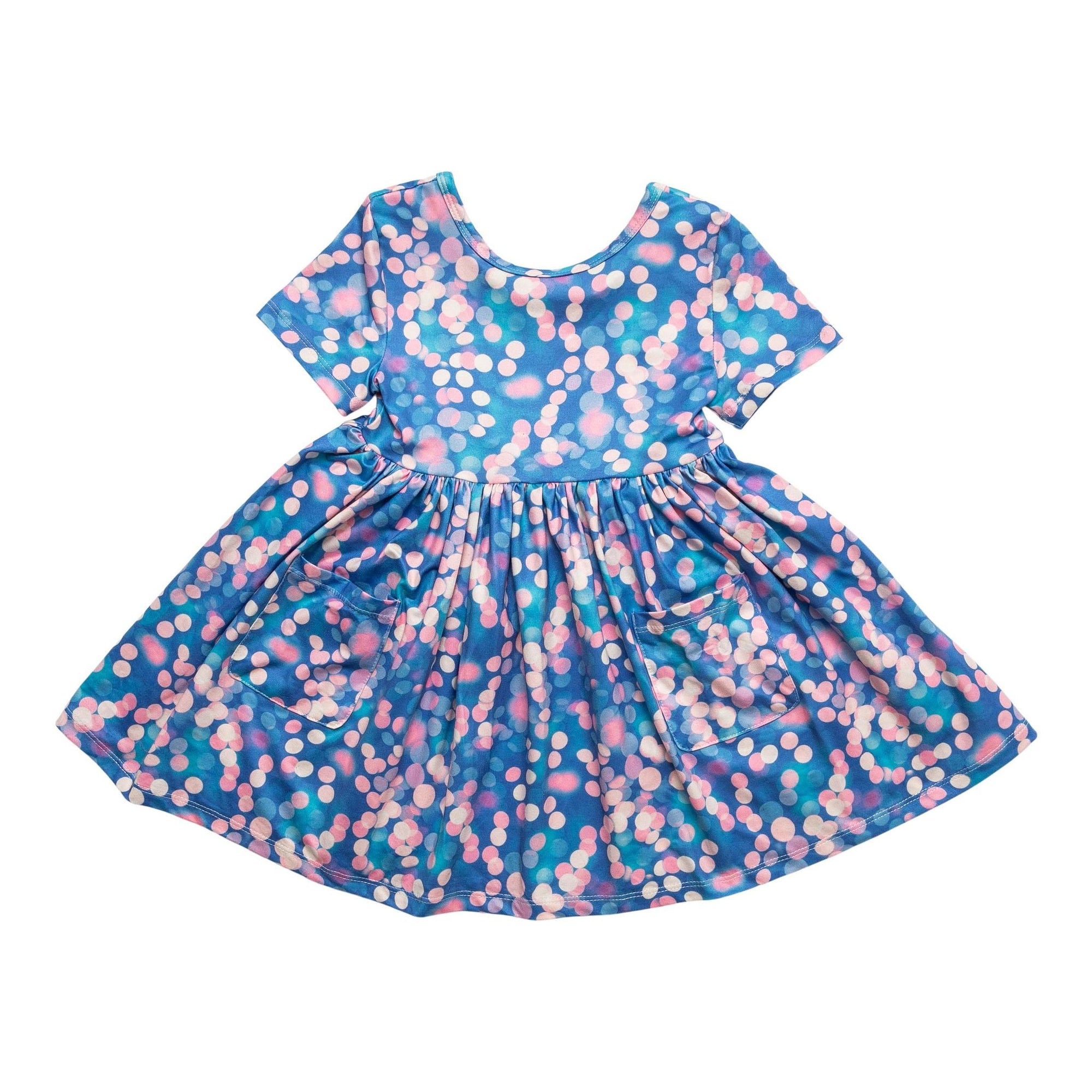 Shimmer & Shine Short Sleeve Pocket Twirl Dress-Mila & Rose ®