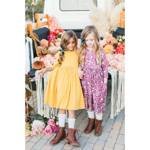 Mustard Twirl Dress-Mila & Rose ®