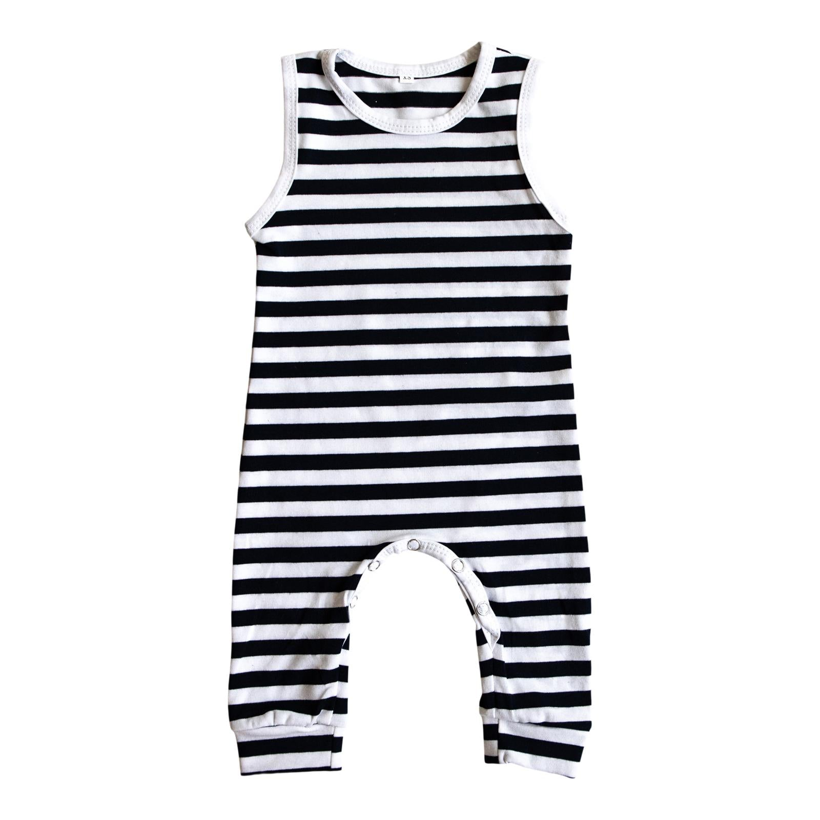 Navy Stripe Tank One-Piece-Mila & Rose ®