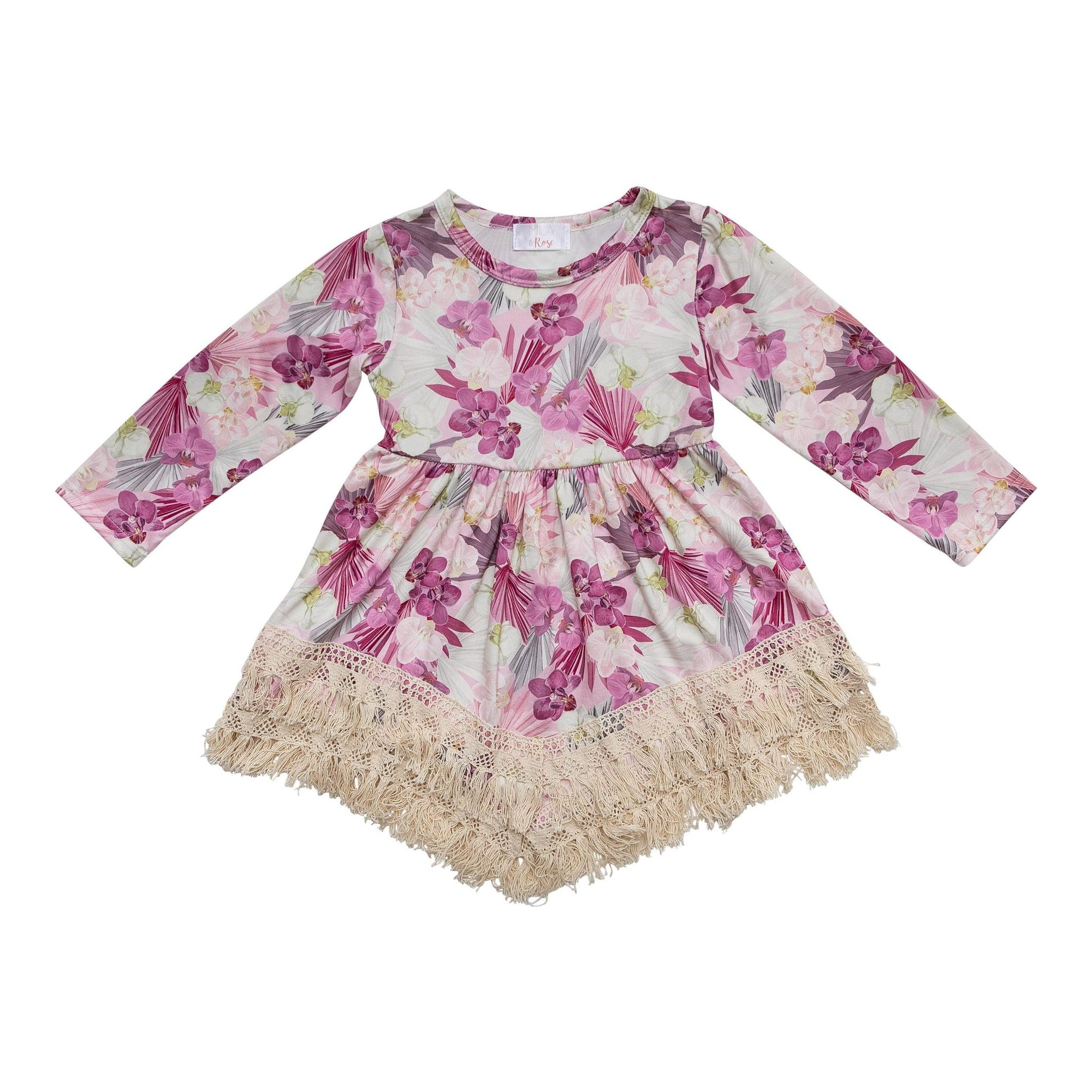 Enchanted Garden Boho Fringe Dress-Mila & Rose ®