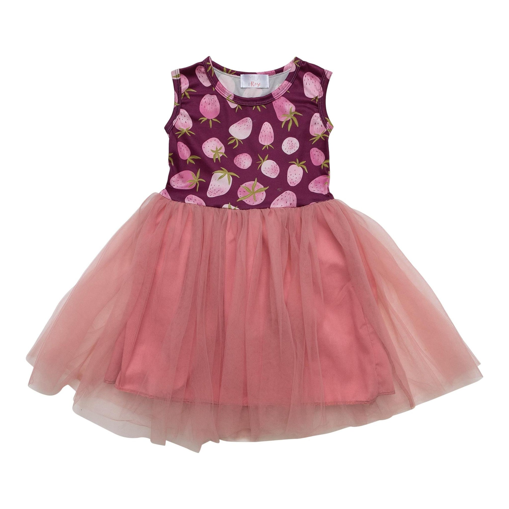 Berry Bliss Tank Tutu Dress-Mila & Rose ®