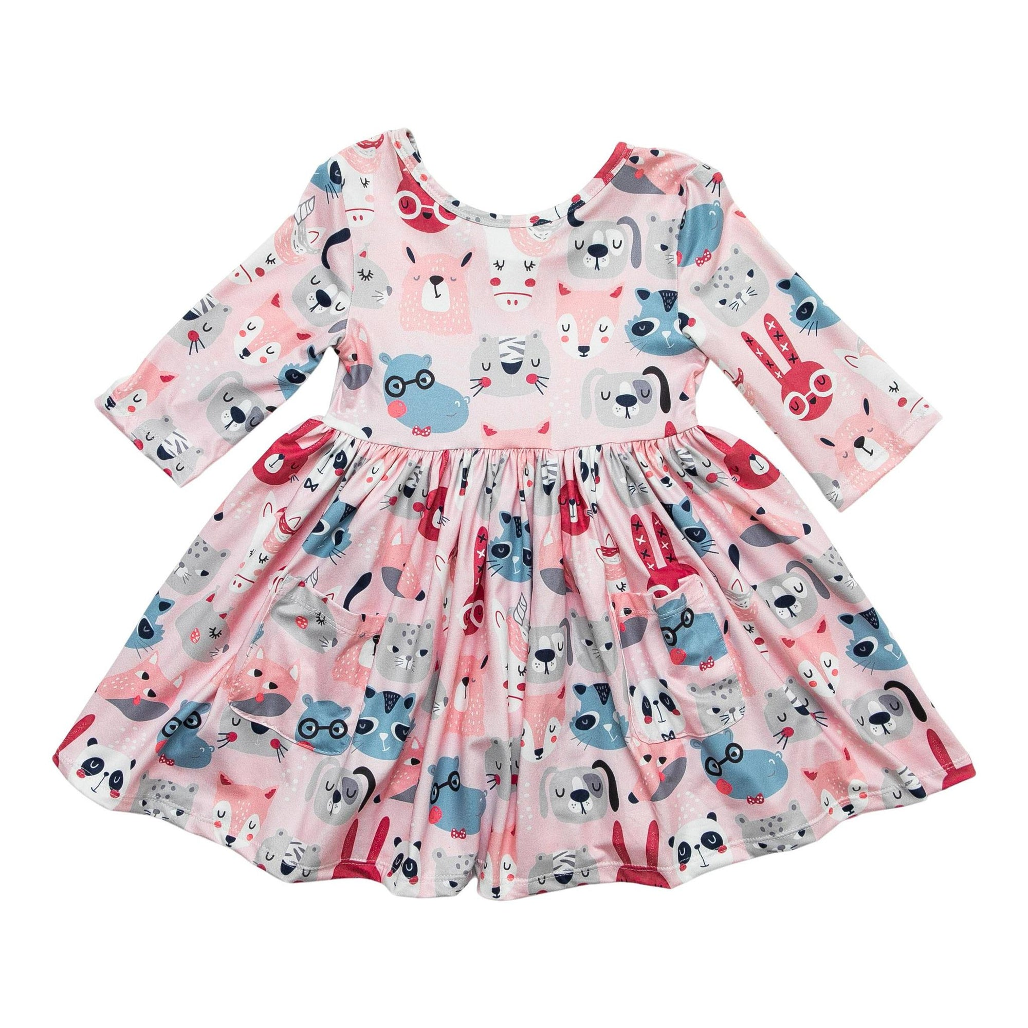Party Animal Pocket Twirl Dress-Mila & Rose ®