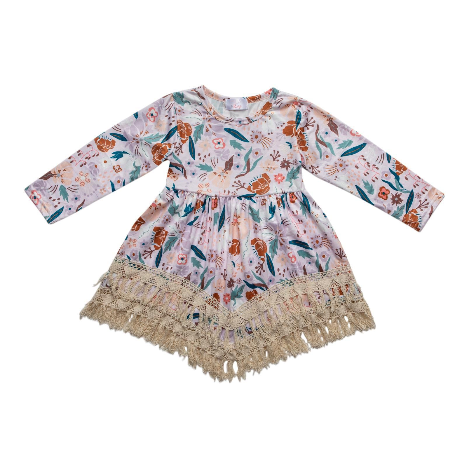 Flowers in Fall Boho Fringe Dress-Mila & Rose ®