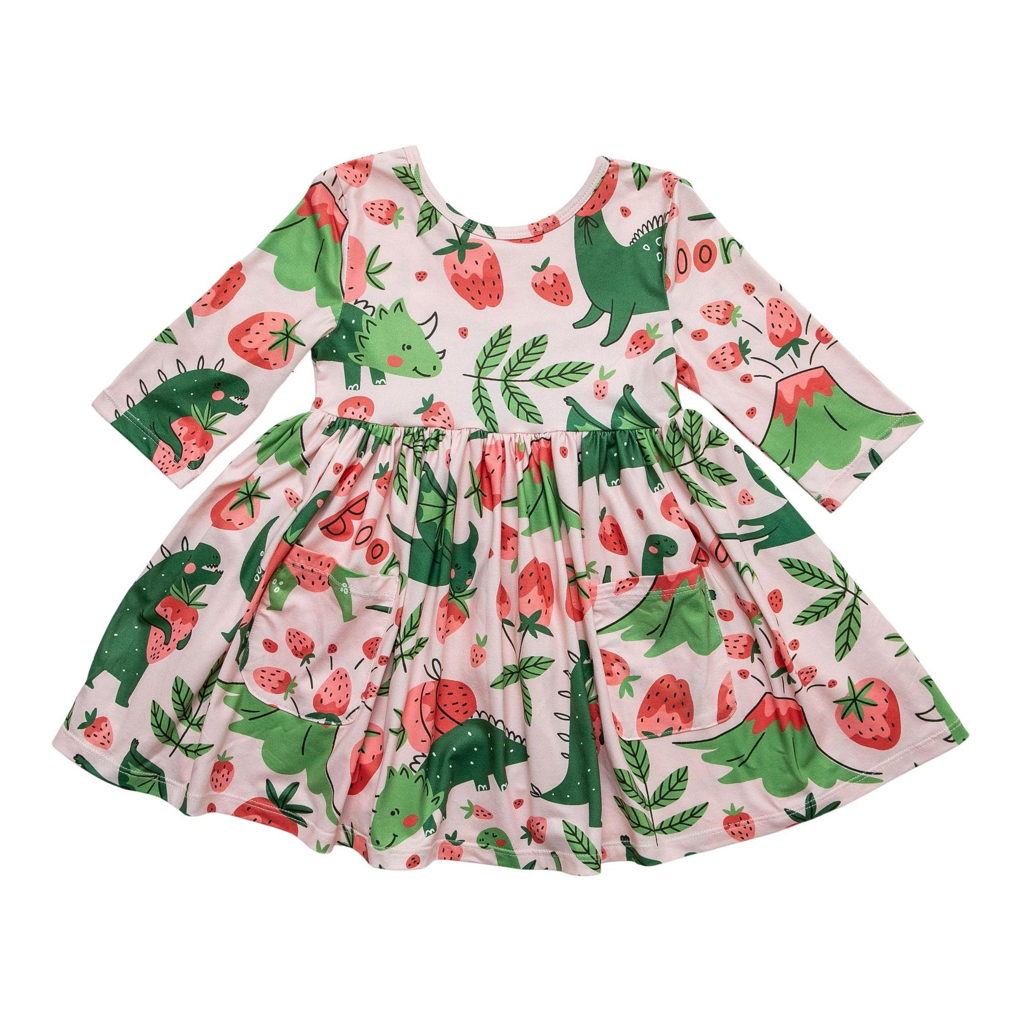 Hear Me Roar Pocket Twirl Dress-Mila & Rose ®