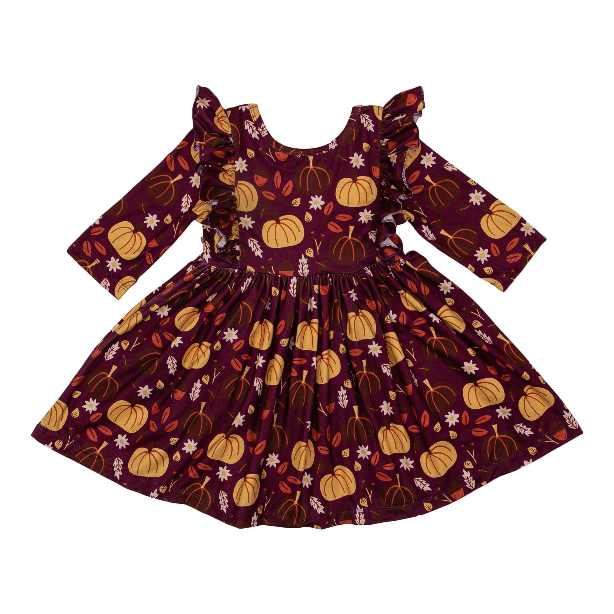Pumpkin Patch Ruffle Twirl Dress-Mila & Rose ®