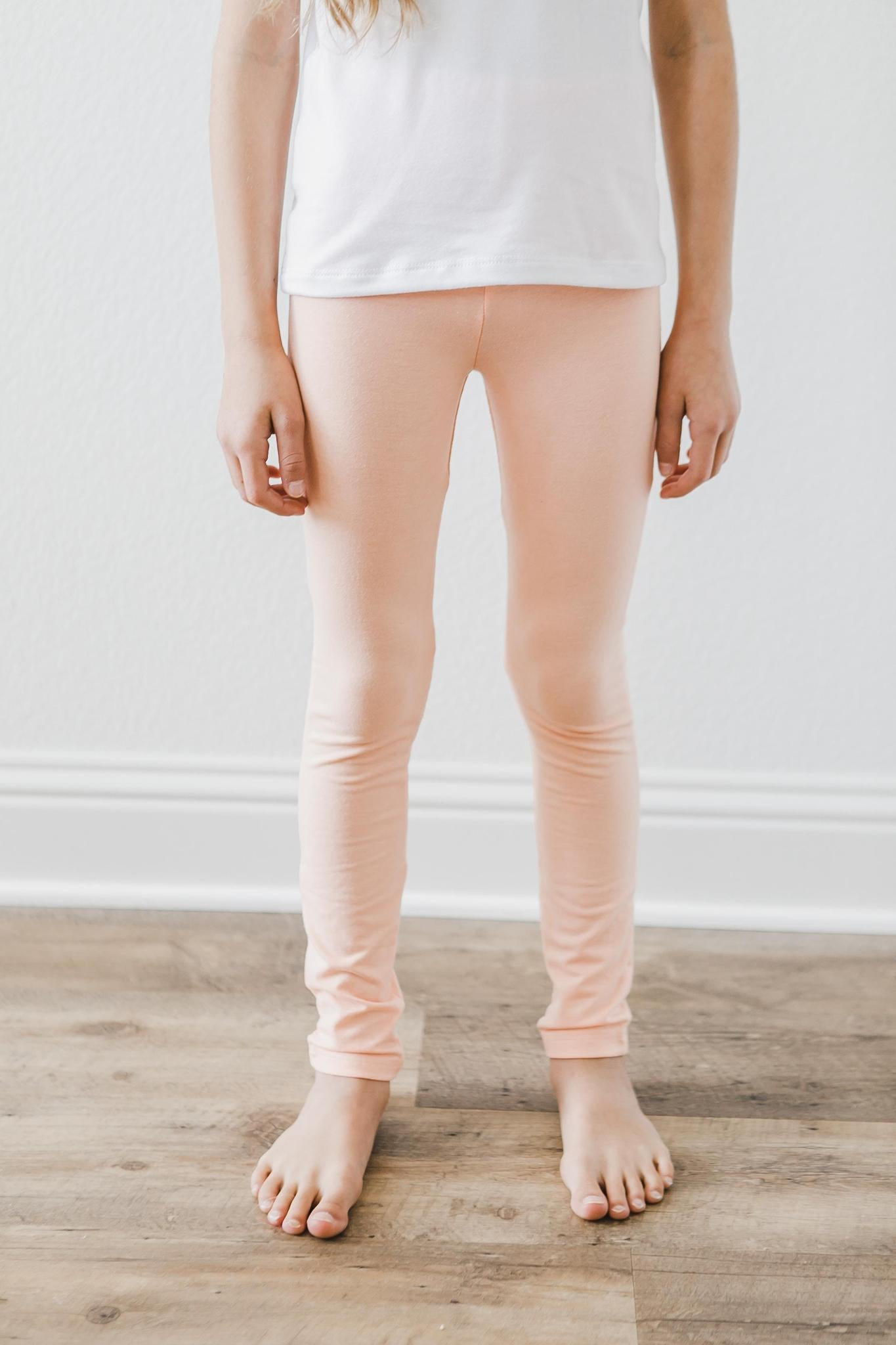 Bright Peach Leggings-Mila & Rose ®