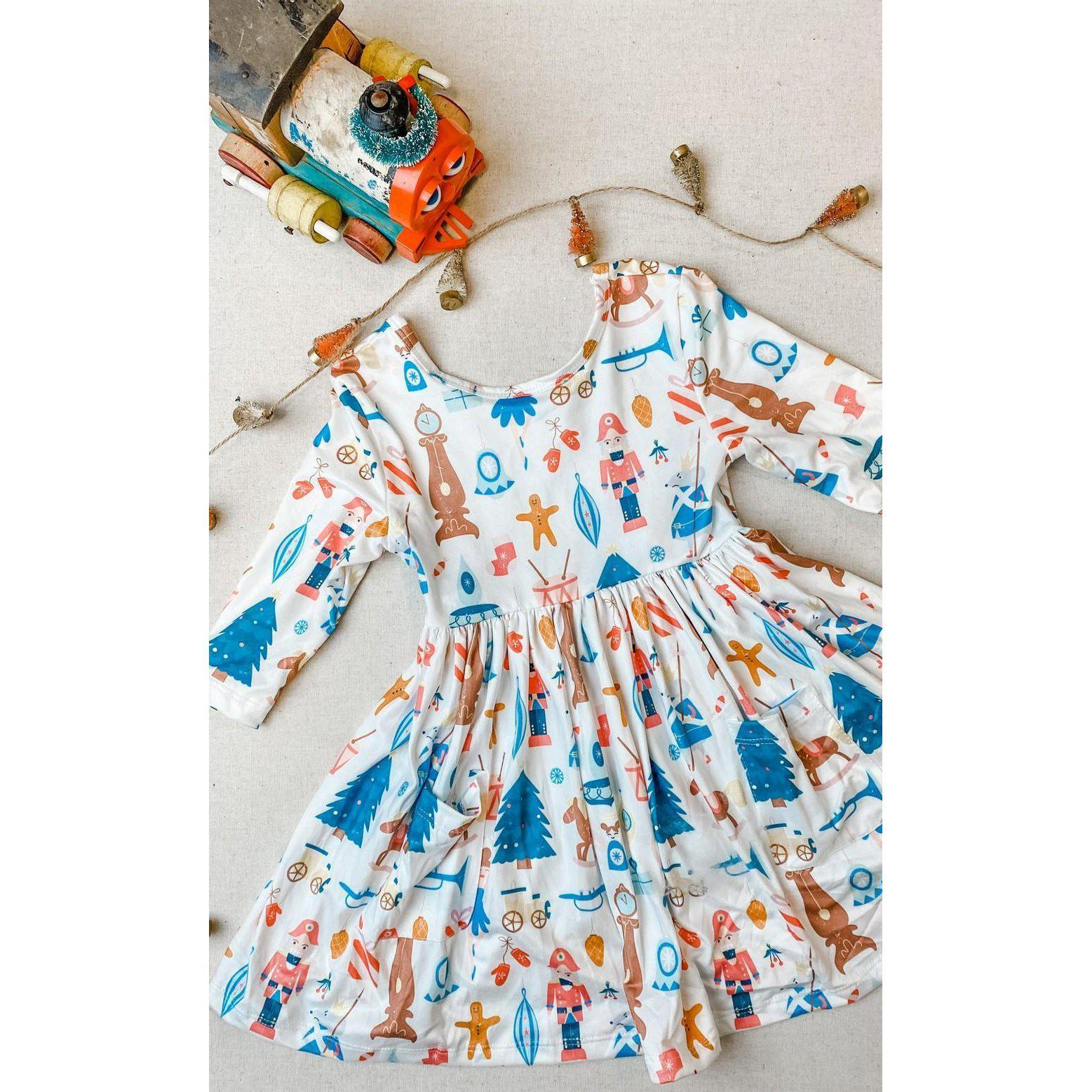Nutcracker Pocket Twirl Dress-Mila & Rose ®