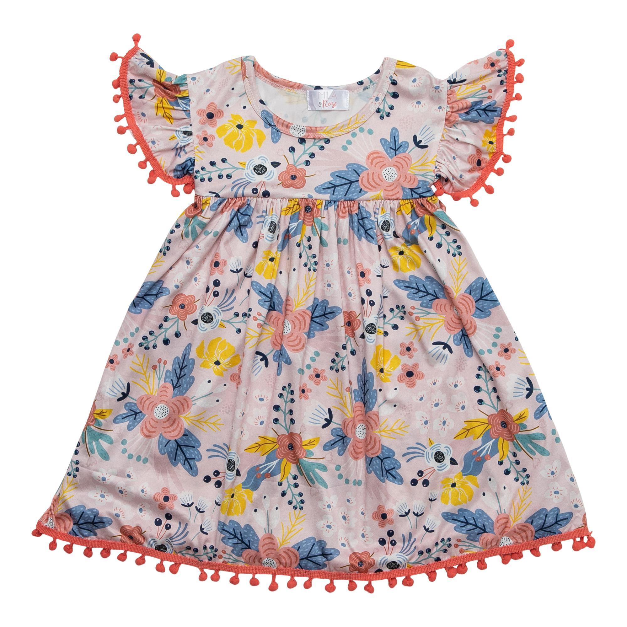 Field of Flowers Pom Pom Dress-Mila & Rose ®