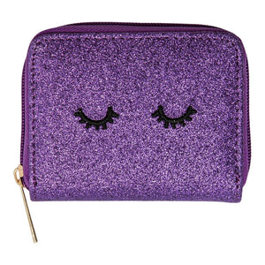 Dark Purple Glitter Wink Wallet-Mila & Rose ®