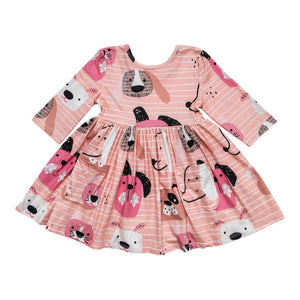 Dog Days Pocket Twirl Dress-Mila & Rose ®