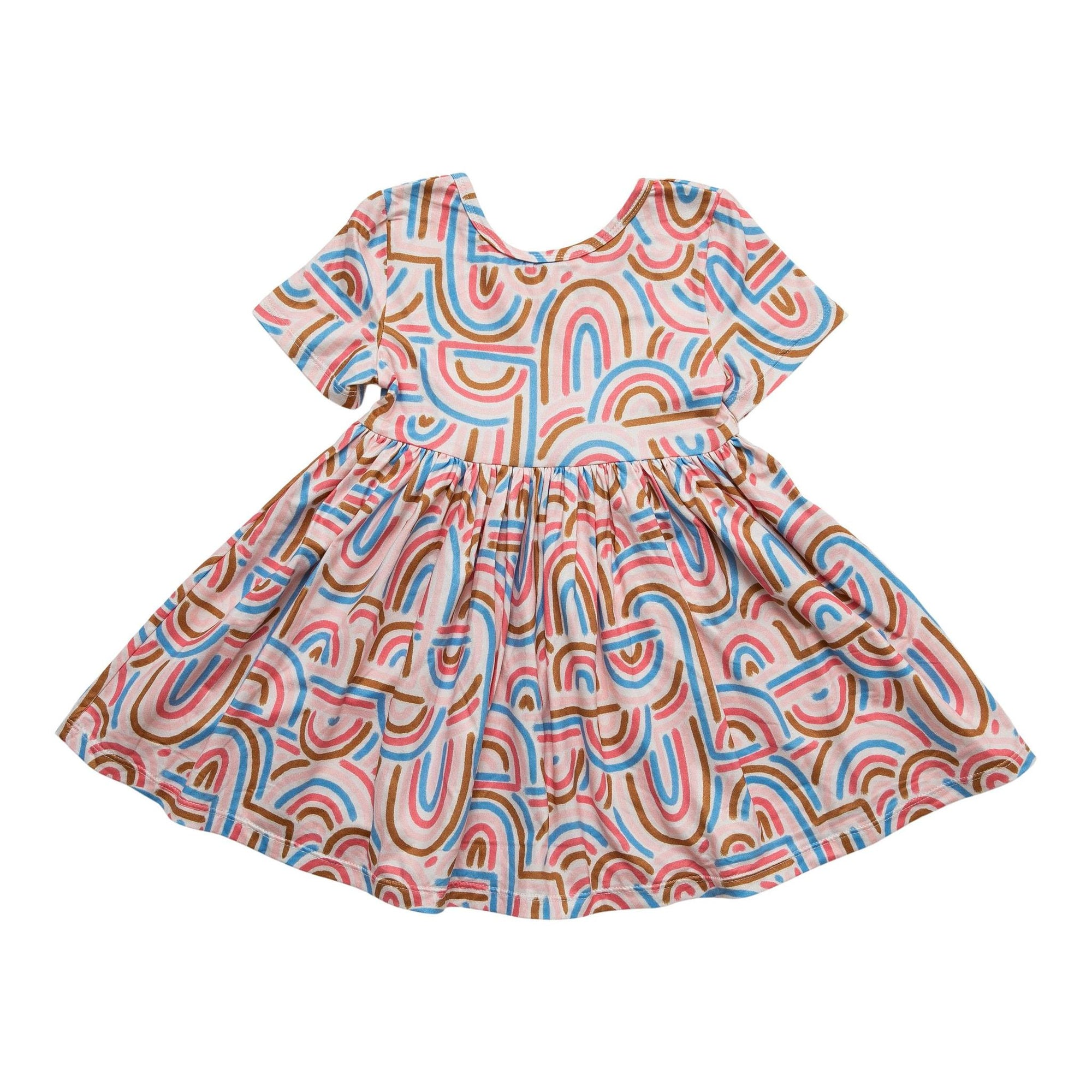 Groovy Girl Short Sleeve Twirl Dress-Mila & Rose ®