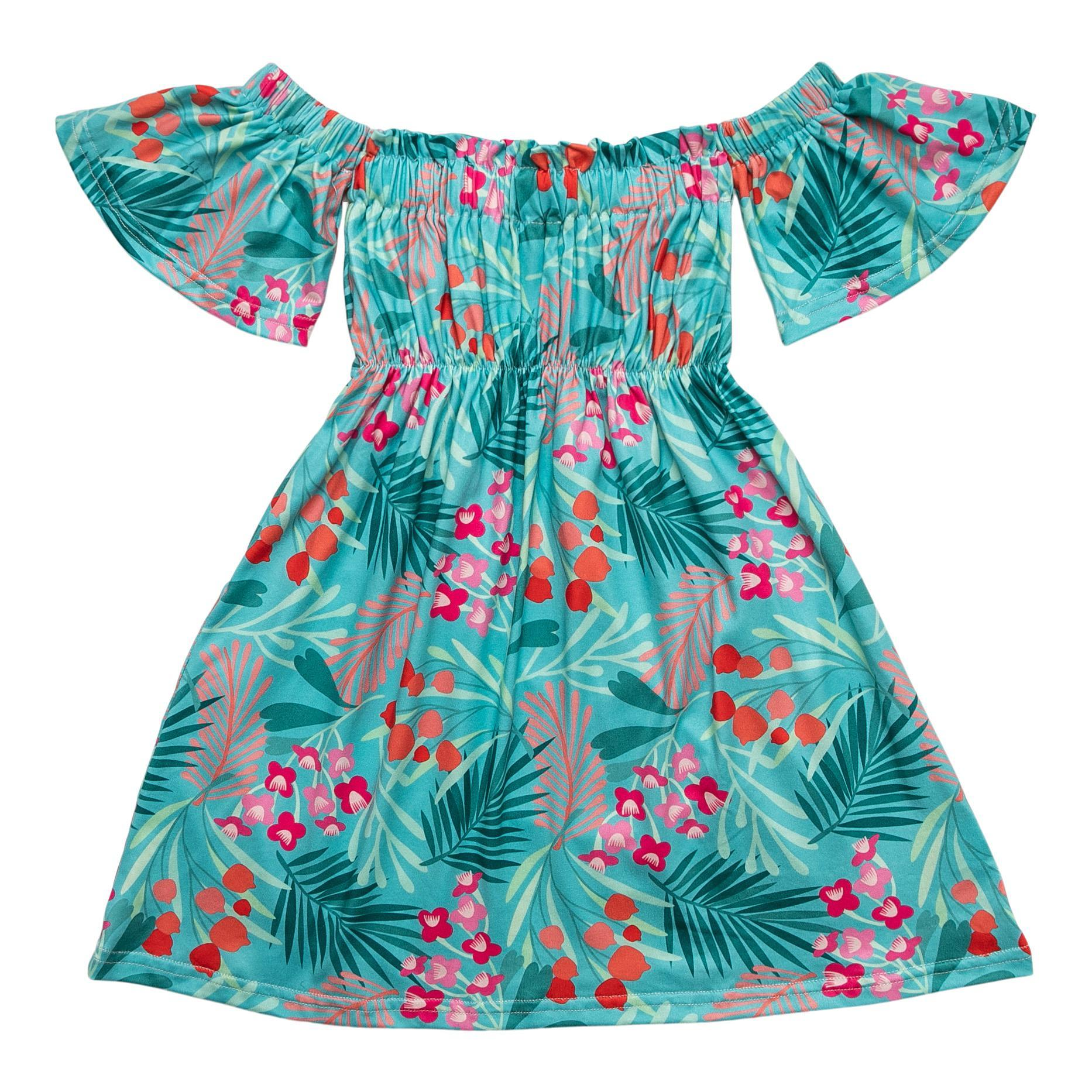 Totally Tropical Off the Shoulder Dress-Mila & Rose ®