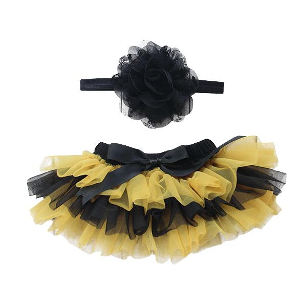 Team Colors Black & Gold Ruffle Tutu Bloomer-Mila & Rose ®