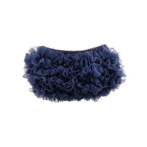 Navy Blue Ruffle Bottom Bloomer