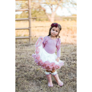 Twirl Tutu™ in Off White & Vintage Pink