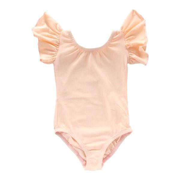 Peach Flutter Sleeve Leotard-Mila & Rose ®