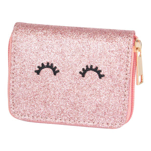 Rose Gold Glitter Wink Wallet-Mila & Rose ®