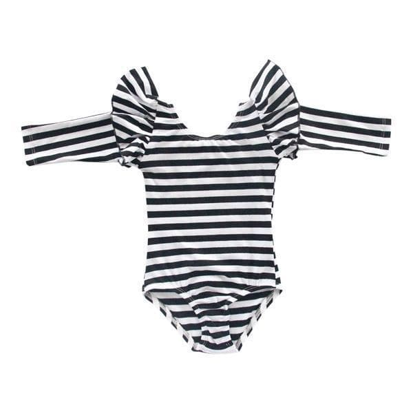 Stripe Long Sleeve Flutter Leotard-Mila & Rose ®