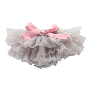Gray and Vintage Pink Tutu Bloomer-Mila & Rose ®