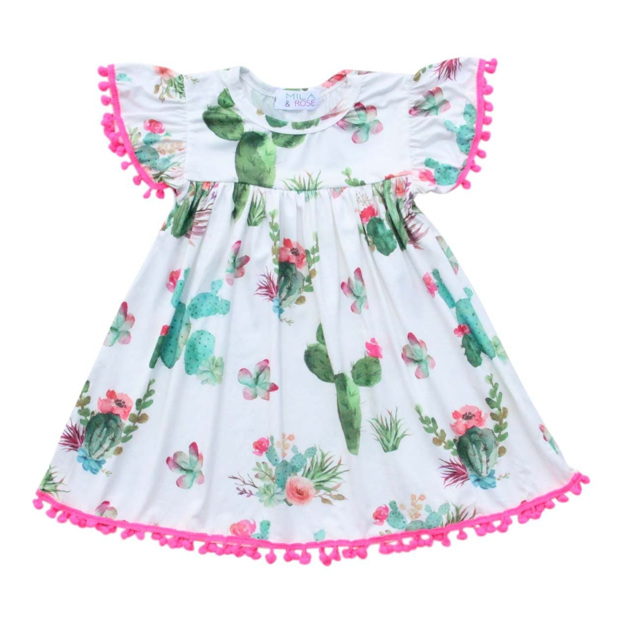 Cute Cactus Pom Pom Dress-Mila & Rose ®