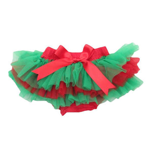 Red and Green Christmas Tutu Bloomer-Mila & Rose ®