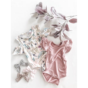 Gray Hand Tied Bow-Mila & Rose ®