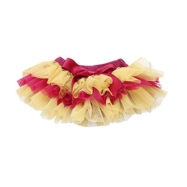 GAME DAY Maroon and Gold Ruffle Tutu Bloomer-Mila & Rose ®