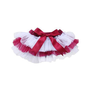 Team Colors Maroon and White Ruffle Tutu Bloomer