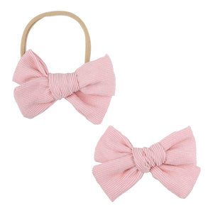 Pink Cord Bow