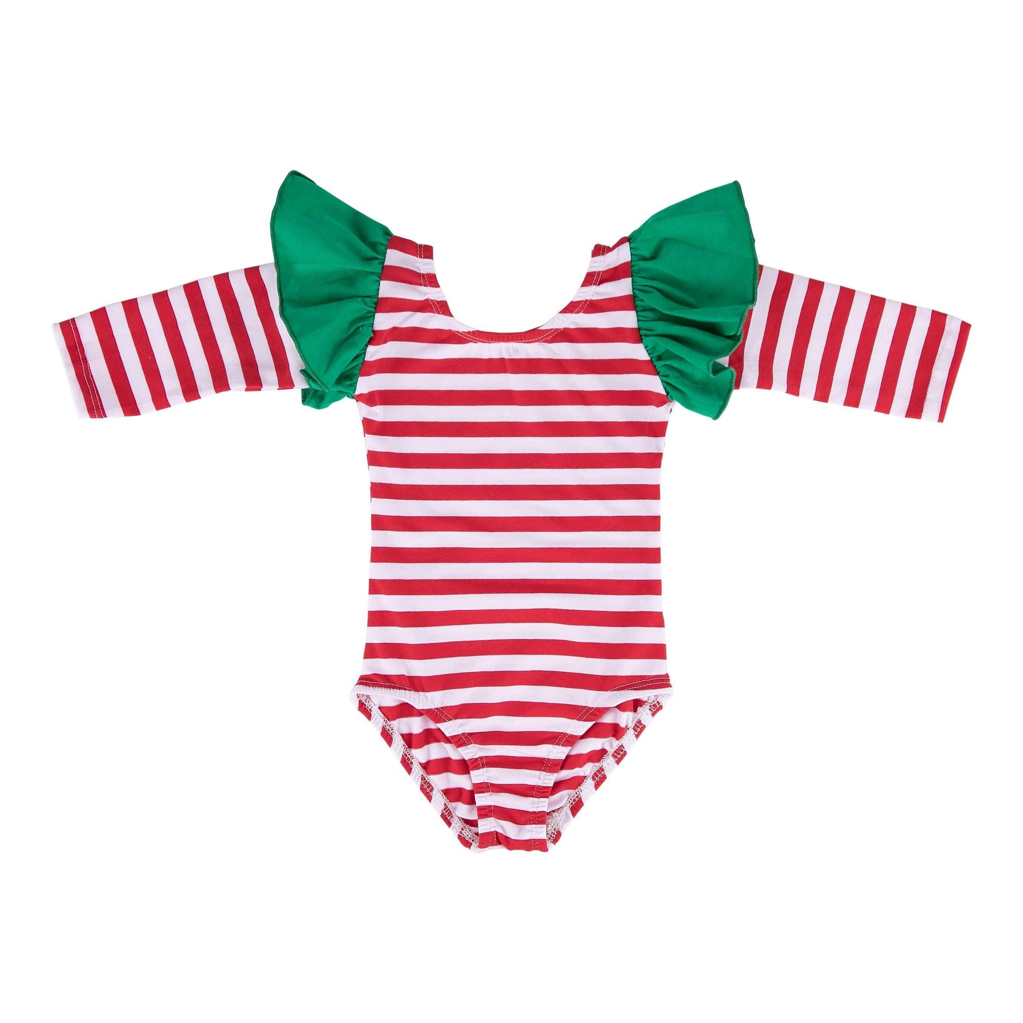 Christmas Long Sleeve Flutter Leotard-Mila & Rose ®