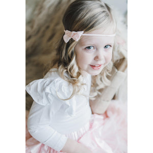 Pink Swiss Dot Bow-Mila & Rose ®