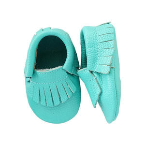 Tropic Leather Baby Moccasins