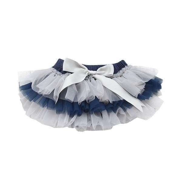 GAME DAY Navy and Gray Ruffle Tutu Bloomer-Mila & Rose ®