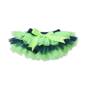 Team Colors Navy and Neon Green Ruffle Tutu Bloomer