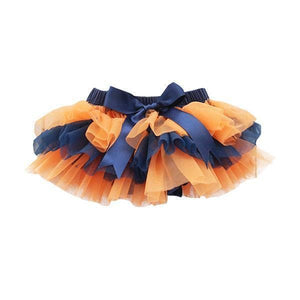 Team Colors Navy and Orange Ruffle Tutu Bloomer-Mila & Rose ®