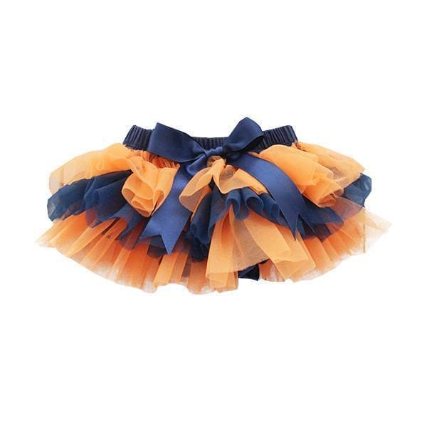 Team Colors Navy and Orange Ruffle Tutu Bloomer