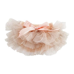 Peach and Gold Glitter Ruffle Tutu Bloomer