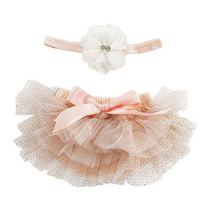 Peach and Gold Glitter Tutu Bloomer-Mila & Rose ®
