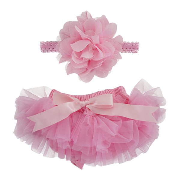 Pink Tutu Bloomer & Headband Set