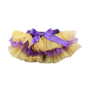 Team Colors Purple and Gold Ruffle Tutu Bloomer