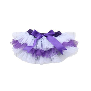 Team Colors Purple and White Ruffle Tutu Bloomer