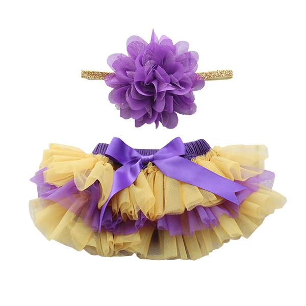 Team Colors Purple & Gold Ruffle Tutu Bloomer-Mila & Rose ®