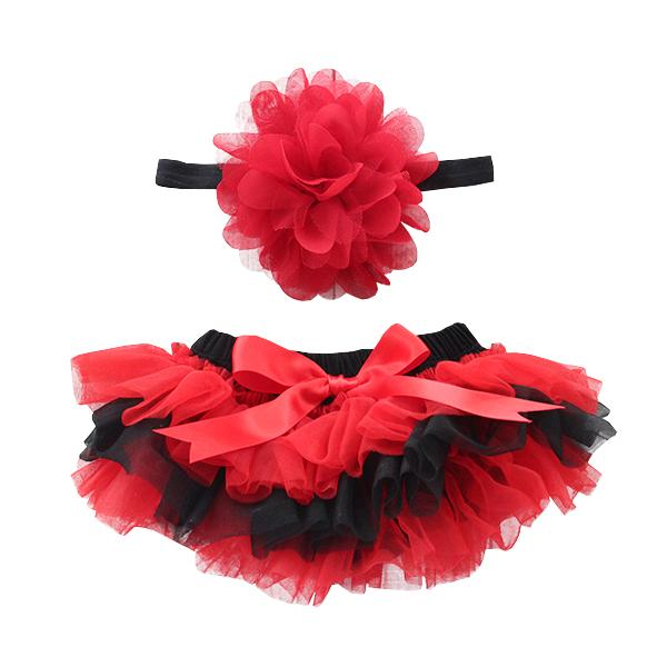 Team Colors Red & Black Ruffle Tutu Bloomer-Mila & Rose ®