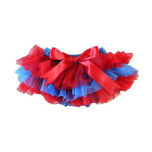 Team Colors Red & Blue Ruffle Tutu Bloomer-Mila & Rose ®